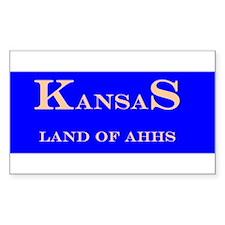 Kansas State Rectangle Decal