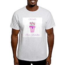 World's Best Grandma (p) Ash Grey T-Shirt