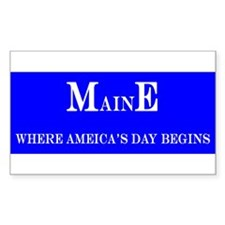 Maine State Rectangle Decal