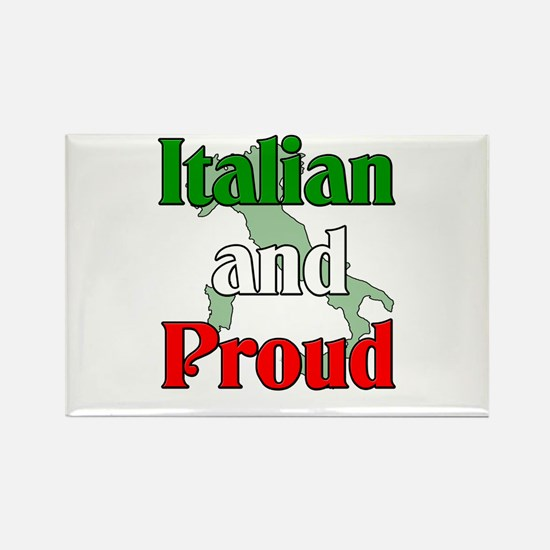 Italian and Proud Rectangle Magnet