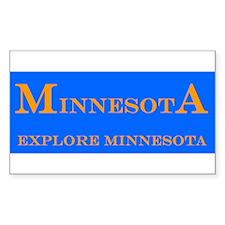 Minnesota State Rectangle Decal