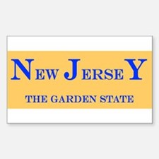 New Jersey State Rectangle Decal