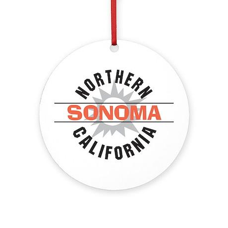 Sonoma California Ornament (Round)