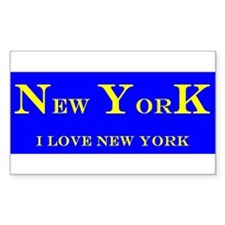 New York State Rectangle Decal