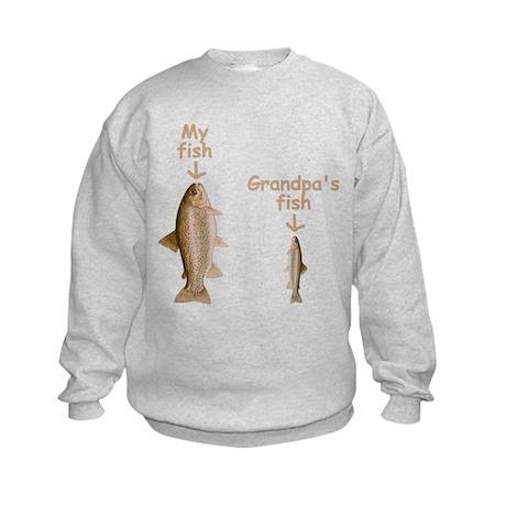 My Fish, Grandpa's Fish Kids Sweatshirt
