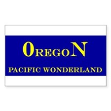 Oregon State Rectangle Decal