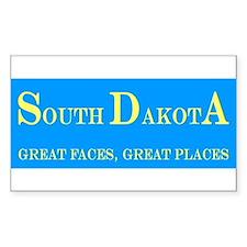 South Dakota State Rectangle Decal