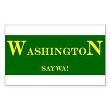 Washington State Rectangle Decal