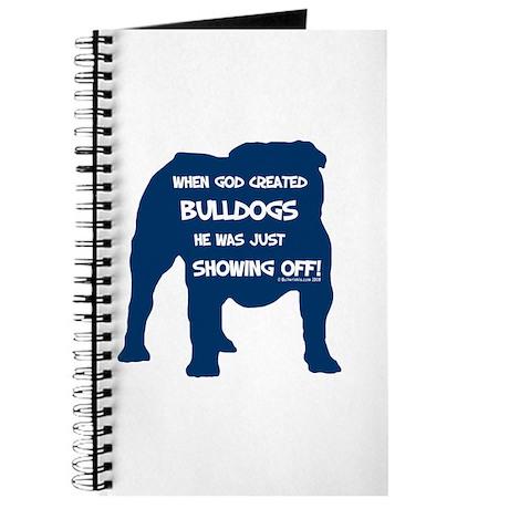 God Created Bulldogs Blue Journal