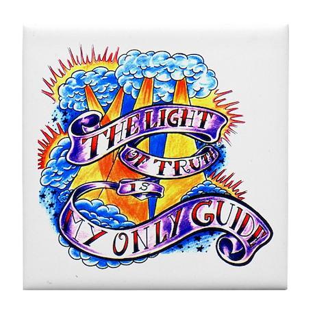 Light of Truth Tattoo Tile Coaster