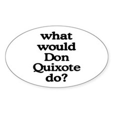 Don Quixote Oval Decal