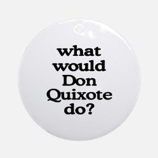 Don Quixote Ornament (Round)