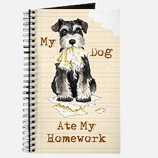 Miniature Schnauzer Ate Homework Journal