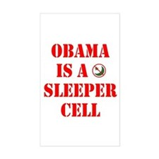 Obama is a Sleeper Cell Rectangle Decal