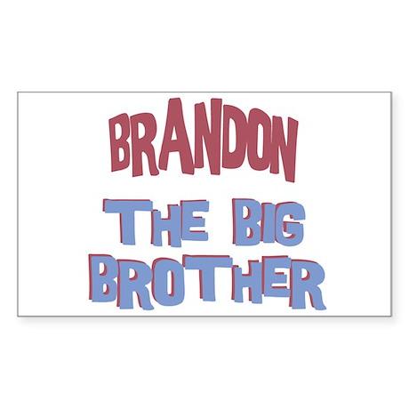 Brandon - The Big Brother Rectangle Sticker