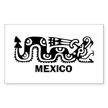 Aztec Mexico Rectangle Sticker