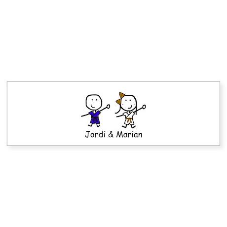 Judo - Jordi & Marian Bumper Sticker