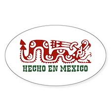 Hecho En Mexico Oval Decal