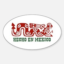 Hecho En Mexico Oval Decal