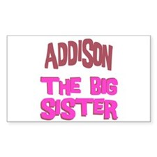 Addison - The Big Sister Rectangle Decal