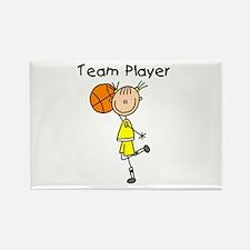 I'm Hot Girls Basketball Rectangle Magnet