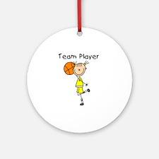 I'm Hot Girls Basketball Ornament (Round)