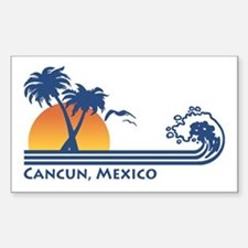 Cancun Mexico Rectangle Decal