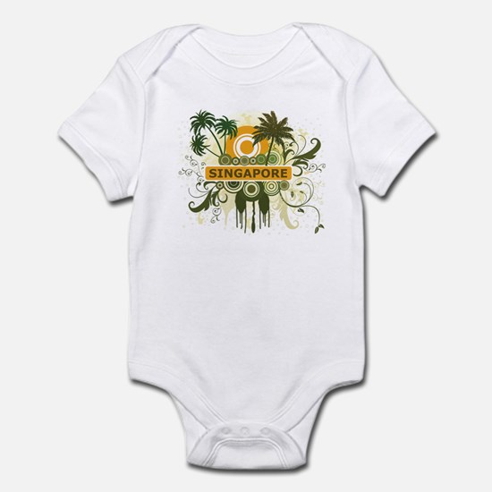 Palm Tree Singapore Infant Bodysuit