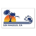 Los Angeles, CA Rectangle Sticker