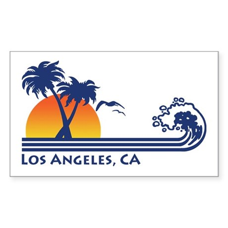 Los Angeles, CA Rectangle Sticker