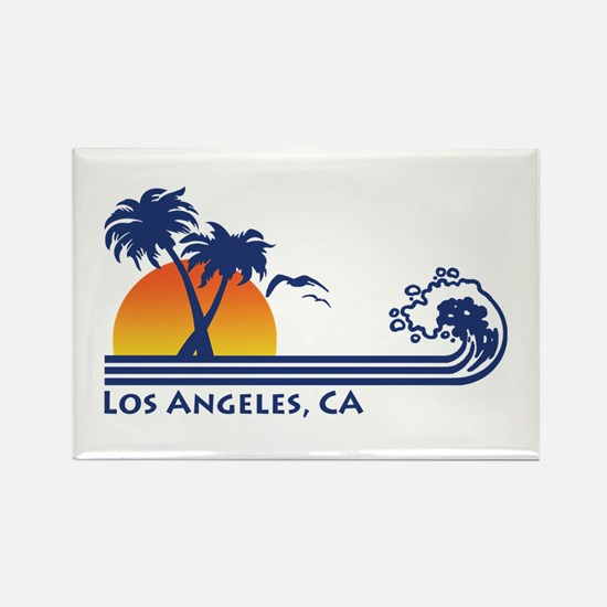 Los Angeles, CA Rectangle Magnet