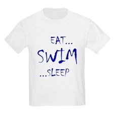 Eat Swim Sleep Blue T-Shirt