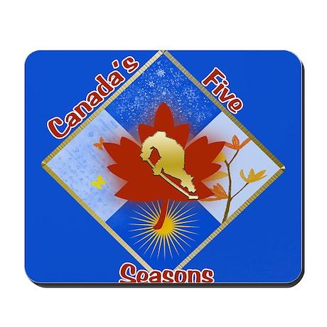 Canada's 5 Seasons Mousepad