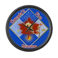 Canada's 5 Seasons Large Wall Clock