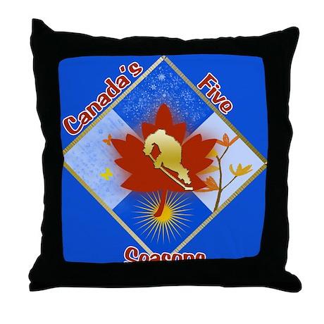 Canada's 5 Seasons Throw Pillow