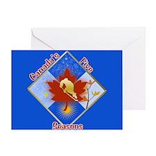 Canada's 5 Seasons Greeting Card