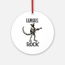Lemurs Rock Ornament (Round)
