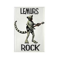 Lemurs Rock Rectangle Magnet