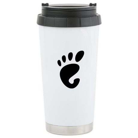 GNOME linux Stainless Steel Travel Mug