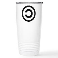copyleft symbol Travel Coffee Mug