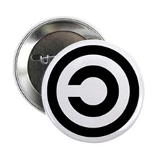 "copyleft symbol 2.25"" Button"