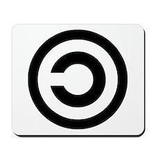 copyleft symbol Mousepad