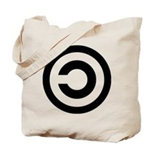 copyleft symbol Tote Bag