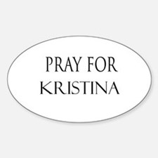 KRISTINA Oval Decal