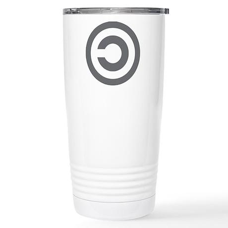 copyleft symbol Stainless Steel Travel Mug