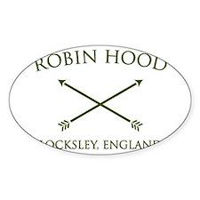 robin hood locksley england Oval Decal