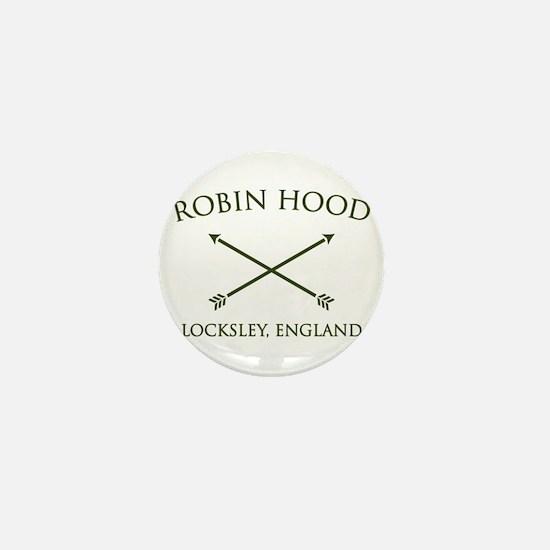 robin hood locksley england Mini Button