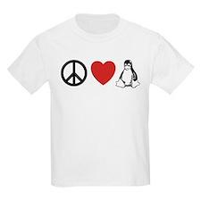 peace love linux T-Shirt