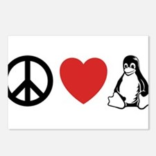 peace love linux Postcards (Package of 8)