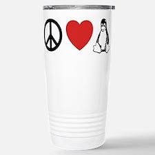 peace love linux Travel Mug